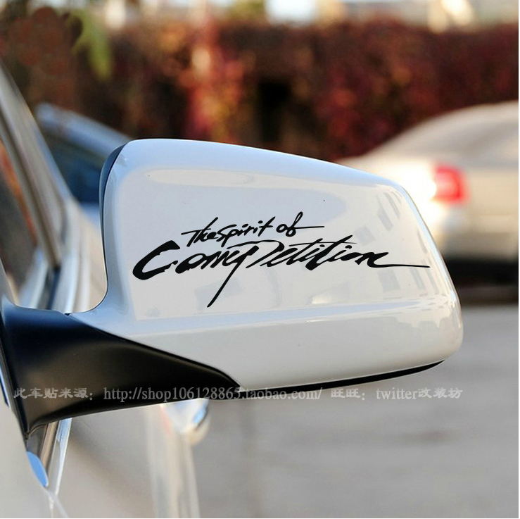 Car mirror rear view mirror side mirror car decoration refires personality(China (Mainland))