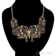 Fashion Women's Charm Statement Bib  Choker Necklace Butterfly Pendant 269V(China (Mainland))