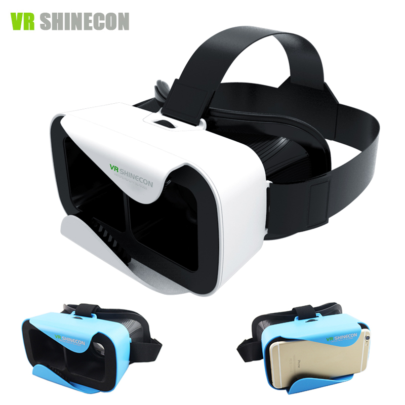 VR Shinecon 3.0 Google Cardboard 3D VR Virtual Reality Glasses Head Mount vr box Oculus Rift vr headset for 4.5-6'phone Gift(China (Mainland))