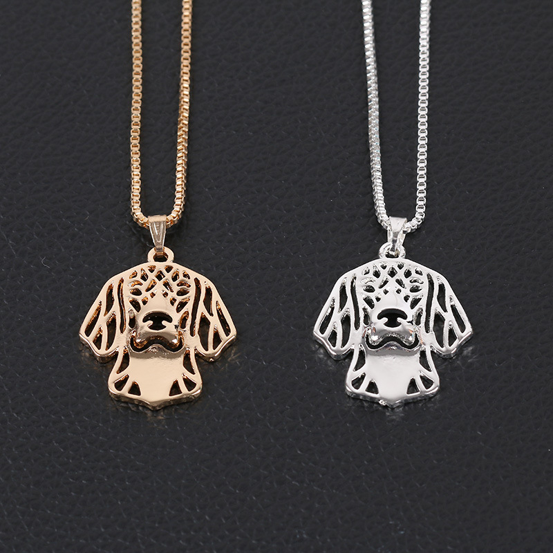 Hollow Out Dog Personality Cute Charm Beautiful OL Party Fashion Chain Pendant Necklace Women Collier Choker Collar Jewelry(China (Mainland))