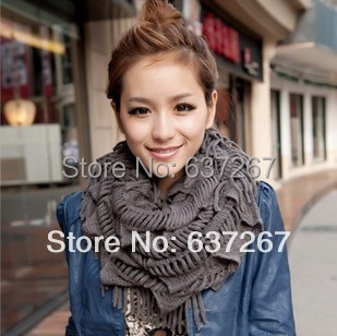 2014 Fashion style Winter Knitting Wool Collar Neck Warmer Scarf Warm Women Ring Scarves - BOBO Co. Ltd store