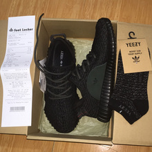 Top quality Men or Women original yezzys 350 Black Gray casual breathable shoes size 5-12.5(China (Mainland))