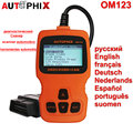 2016 OBD2 Auto Diagnostic Scanner AUTOPHIX OM123 OBD ii EOBD Engine Fault Code Reader Russian Car