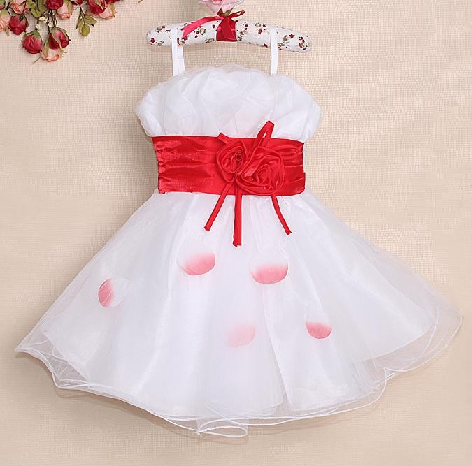 2014 fashion kids flower strap mesh veil dresses new year princess dresses summer kids clothes nice childrens party dress<br><br>Aliexpress