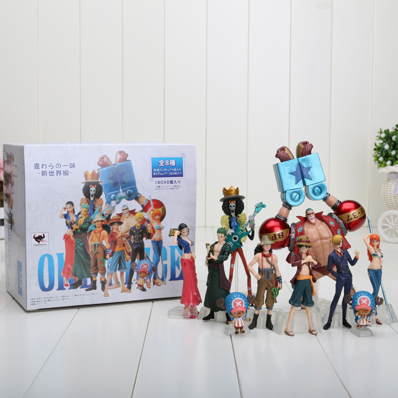 set of 10 4-18cm One Piece Anime One Piece Figures Dolls Toys 2 Years Later Large Doll Model(China (Mainland))