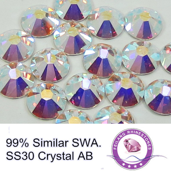 7big+7small 14 Facets 99% Similar Swa 288pcs SS30 Crystal AB Glass Material Loose For Professional Buyers Hotfix Rhinestone(China (Mainland))