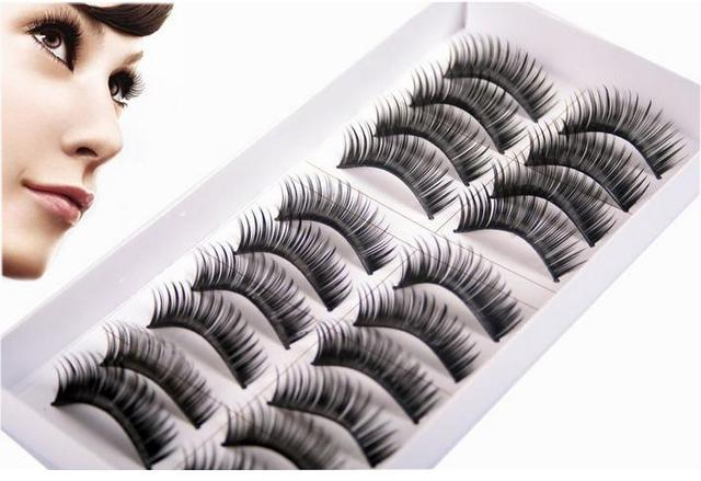 10 pairs High Quality Thick Long False Eyelashes Extension Three Trees Handmade Makeup Lashes