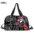 FORUDESIGNS Fashion Women Large Travel Luggage Tote Bag Funny Joker and Harley Quinn Print Duffle Bags