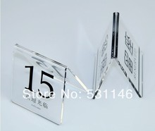 Restaurant table number cards, Digital Card, seating cards(China (Mainland))