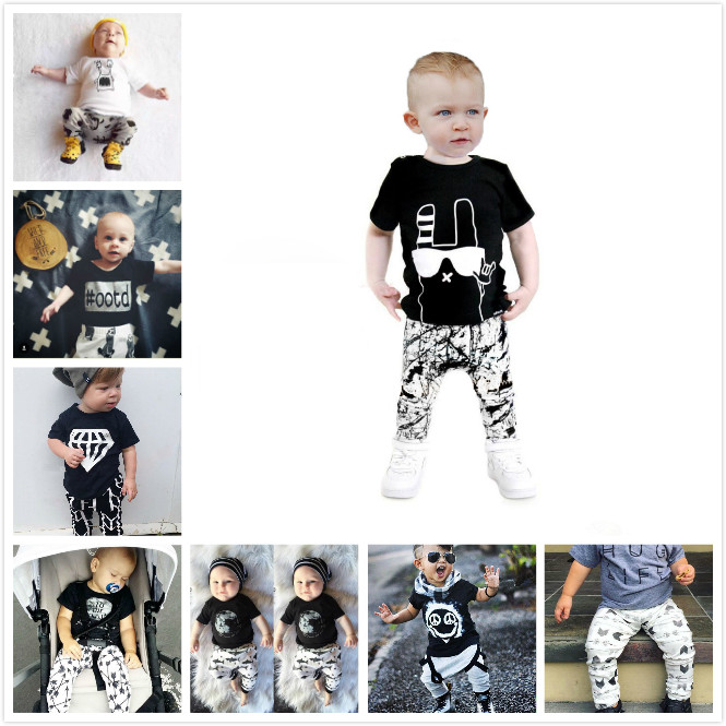 2016 summer male baby clothes fashion cotton printed short-sleeved bat dynamic print pants + short-sleeved suit baby clothes(China (Mainland))