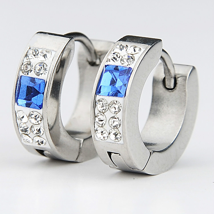 2015 fashion jewelry stud earring Stainless Steel earring for Men women Earrings For silver earrings Wholesale JH-1087