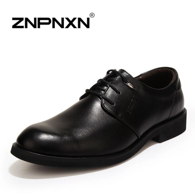 Znpnxn мужская обувь свободного покроя квартиры искусственная кожа новые люди оксфорды, ...
