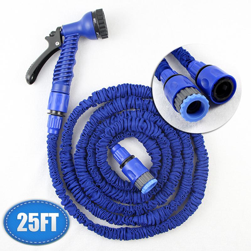 25ft 1/4 inch garden hose expandable flexible manguera extensible water hose for irrigation pistolas de jardin car wash stretch(China (Mainland))