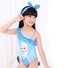 Baby Girls Swimwear Toddler Swimsuit Character Queen Elsa Anna biquini infantil Children Kids One piece Girls