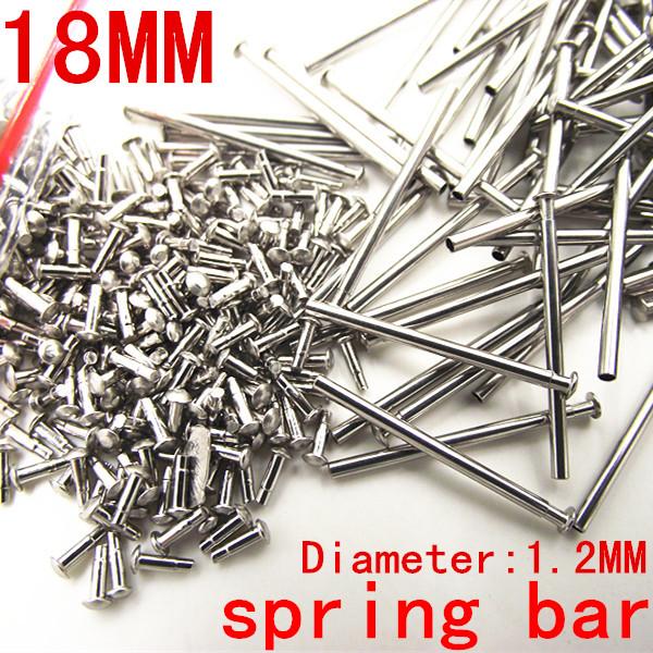 1000PCS / lot watch repair tools & kits 18MM spring bar watch repair parts Stainless steel diameter 1.2mm -SP010(China (Mainland))