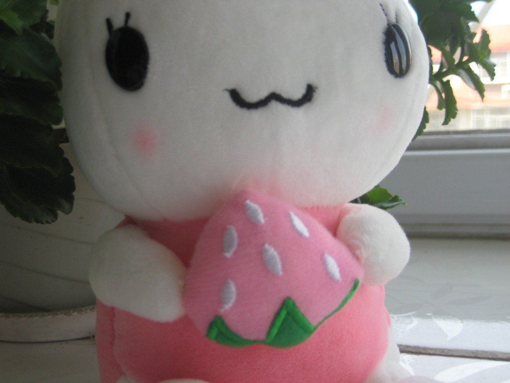 coming Stuffed Soft Plush Toy Little Cucu ,Fruit Rabbit -Pink ,great baby gift , - Smile, the world will smile with you! store