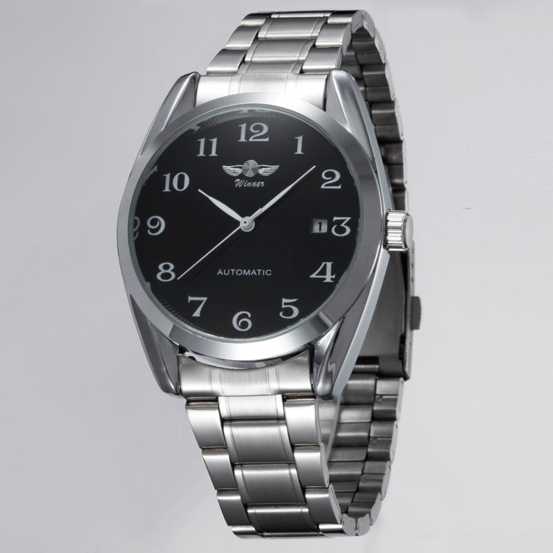 Watches Men 2015 Fashion Fully Automatic Mechanical Watches Stainless Steel Men Dress Watch