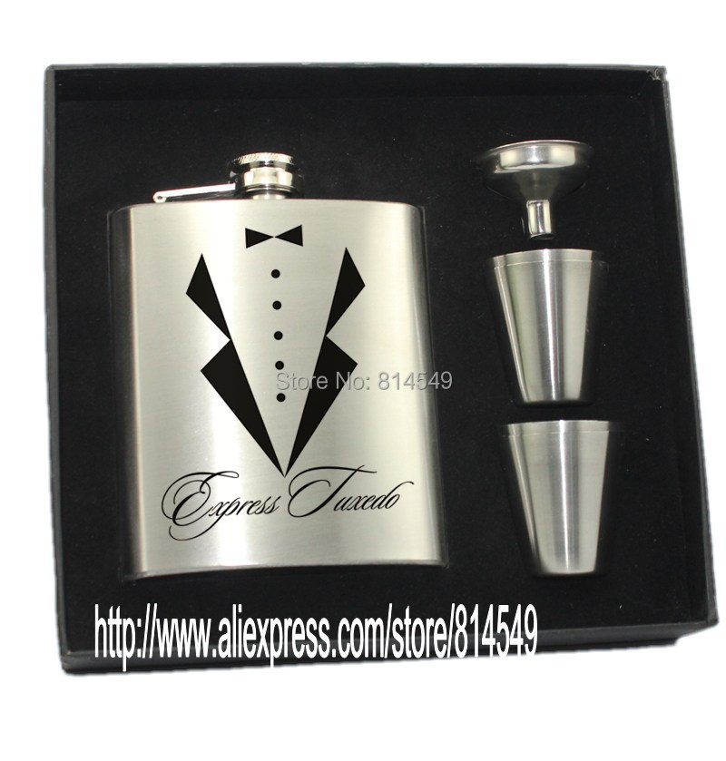 Aliexpress Buy Personalized Wedding Gift For Groomsman Of Hip Flask With 4 Cups Funnel Set
