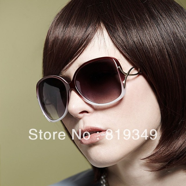 2013 New VANCL Women Sunglasses Fiona Fashion Oversized Sunglasses Bright Glamorous Tinted Lenses Tapered Arms Red FREE SHIPPING