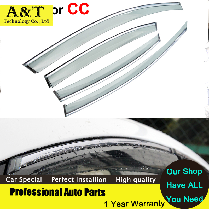 Здесь можно купить  car styling Window Visors For Volkswagen VW CC 2013 2014 Sun Rain Shield Stickers Covers Car - Styling Awnings Shelters  Автомобили и Мотоциклы