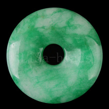 Free Shipping New New without tags Fashion Jewelry 35MM Round Natural Green Jade Pendant 1Pcs FK194(China (Mainland))