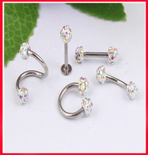 Buy 16g Nose Rings 5pcs /lot Mix 5 Style Piercing Package Disco Ball Fake Ear Stud Eyebrow Bar Lip Bar Jewelry ) for $8.94 in AliExpress store
