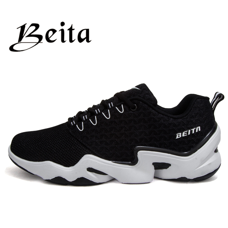2016 Men athletic shoes made of leather upper and non slip rubber outsole running shoes brand men sport shoes walking sneakers(China (Mainland))