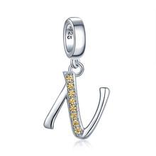 JewelryPalace Iniziale 925 Sterling Silver Beads Pendenti e Ciondoli Per Il Braccialetto In Argento 925 originale Perline Monili Che Fanno Della Collana Del Pendente(China)