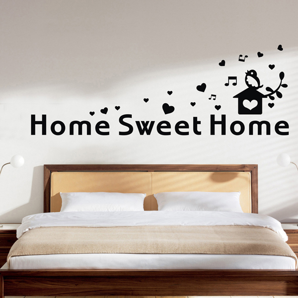 Home sweet home vinyl decal wall art sticker inspirational Home sweet home wall decor