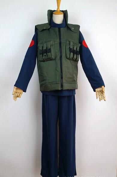 Naruto cos Kakashi Hatake top+pants+vest cosplay anime costumes role playing unisex Naruto kakashi costumes cosplay suit(China (Mainland))