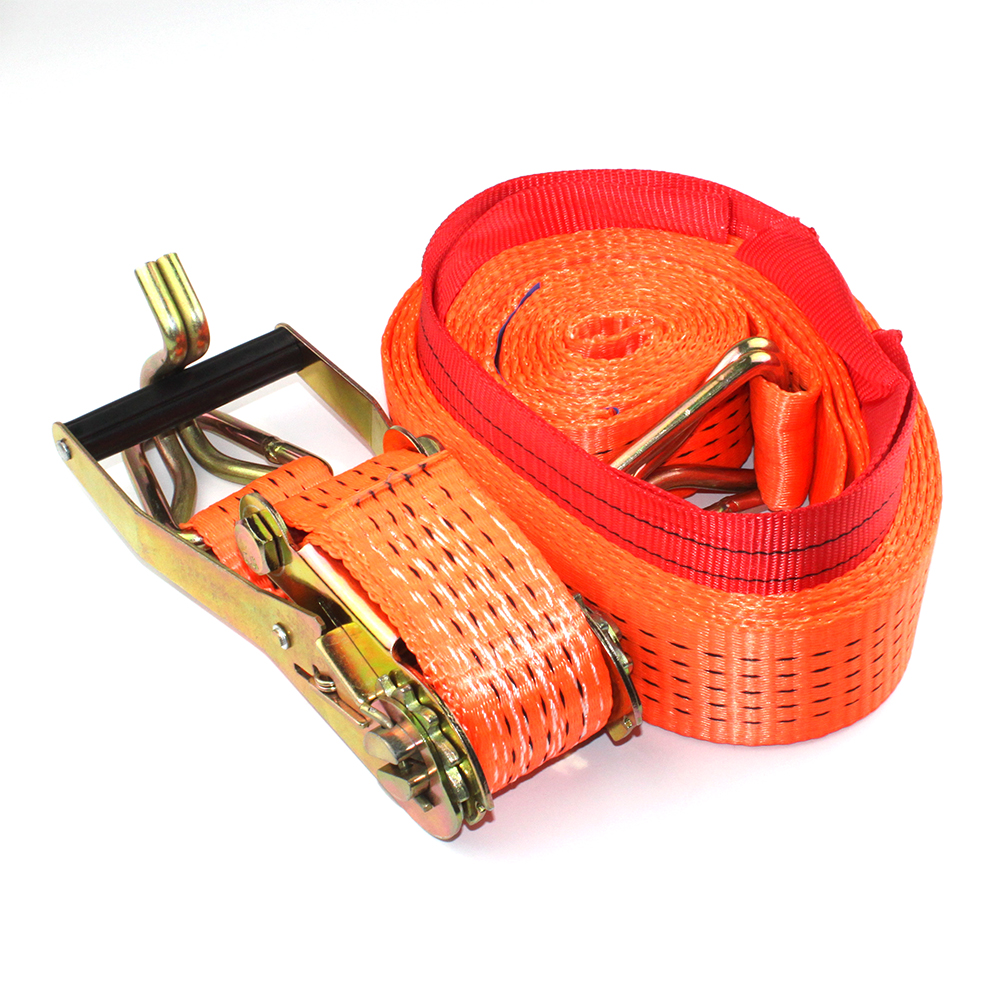 100% polyester ratchet lashing, ratcheting cargo lash, tie down strap with hook and keeper, cargo tow strap, 8m and 2500kg