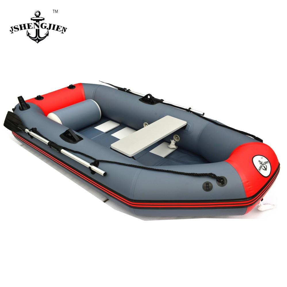 Genuine three network folder Ship inflatables kayak fishing boat inflatable boat inflatable boat thick red + dark gray(China (Mainland))