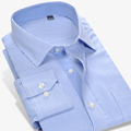 Men s Long Sleeve Micro Dot Stripe Dress Shirt Double buttons Cuffs Slim Fit 100 Cotton