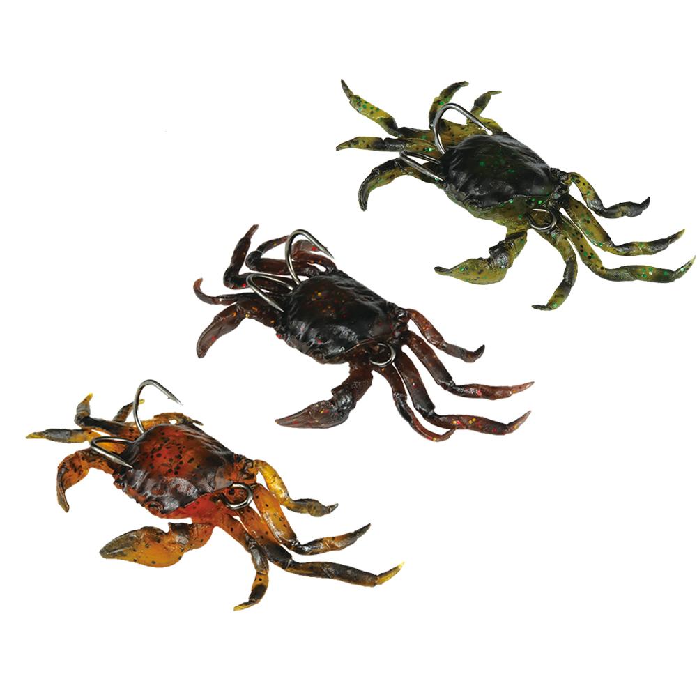 3PCS 3D PVC Crabs Lures 10cm 30g/Piece Orange/Green/Marron Avaiable(China (Mainland))