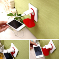 Fashion Linked Wall Charging Rack Holder Colorful Stand For Cell Phone Charger for iphone samsung sony