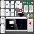 English Russian French Voice Dual Net Touch keypad TFT color Display GSM PSTN Dual Net Panic