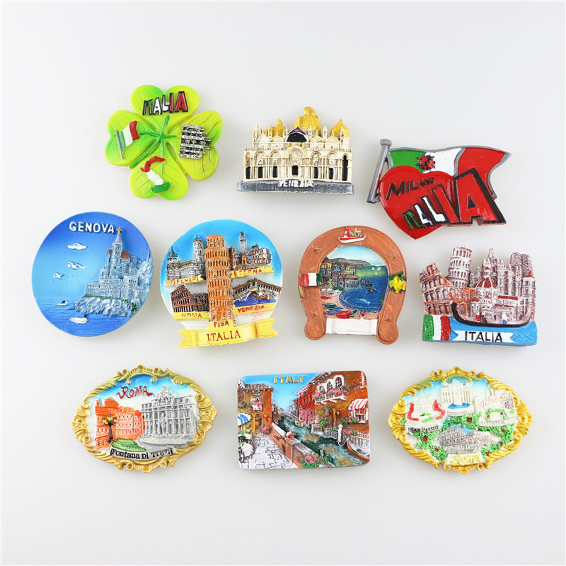 Limited Offer, Quality Resin Refrigerator Magnet, Some Finest Fridge Magnet of Italy, Rome, Venice, Milano, Italian Souvenir(China (Mainland))