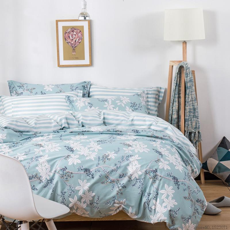 ropa de cama fundas de edredn floral bohemio plaid rejilla cubierta de cama doble completo queen