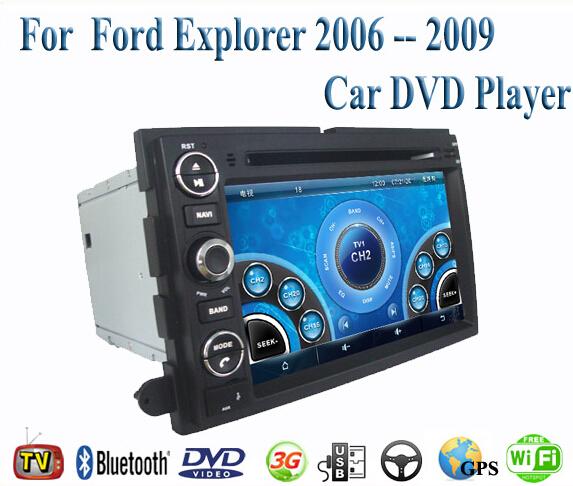 2 Din Car DVD Player Fit Ford Explorer 2006 2007 2008 2009 GPS TV 3G Radio WiFi Bluetooth Wheel contol(China (Mainland))