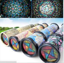 2016 hot sale Rotating Kaleidoscopes Colorful World Preschool Toys Style at Random Best Kids Gifts free shipping(China (Mainland))
