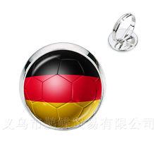 Clássico Anéis 2018 Copas Do Mundo de Futebol Nacional Bandeira Do Panamá, Austrália, Egito, Argentina, Rússia, Alemanha, dinamarca, Polónia, Futebol Souve(China)