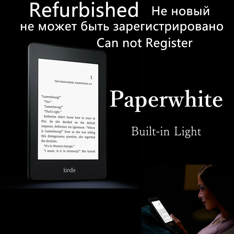 used kindle paperwhite one built in light wifi e book. Black Bedroom Furniture Sets. Home Design Ideas