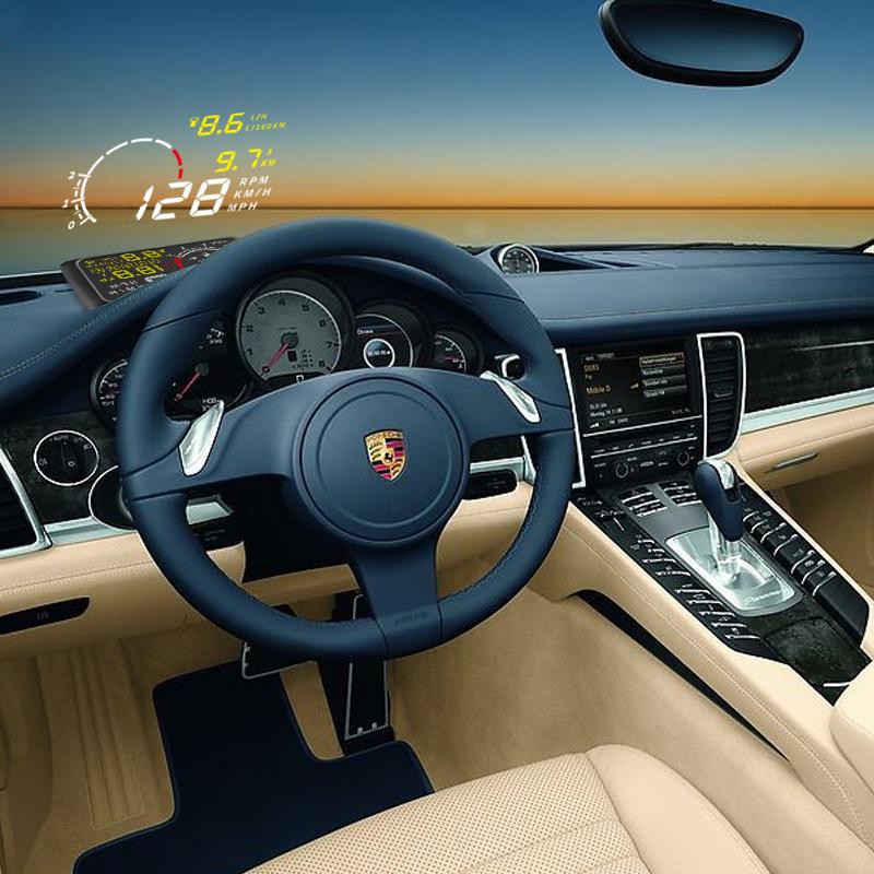 X3 5.5 inch Car ELM327 Bluetooth Head Display OBD II Hud Vehicle Speeding Warning MPH Anti-slip Pad - Taotuo RC Parts No.001 Store store