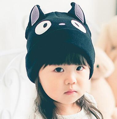New kids hats cute cartoon cat woolen crochet hat kids winter hats lovely parent-child boys girls hats<br><br>Aliexpress