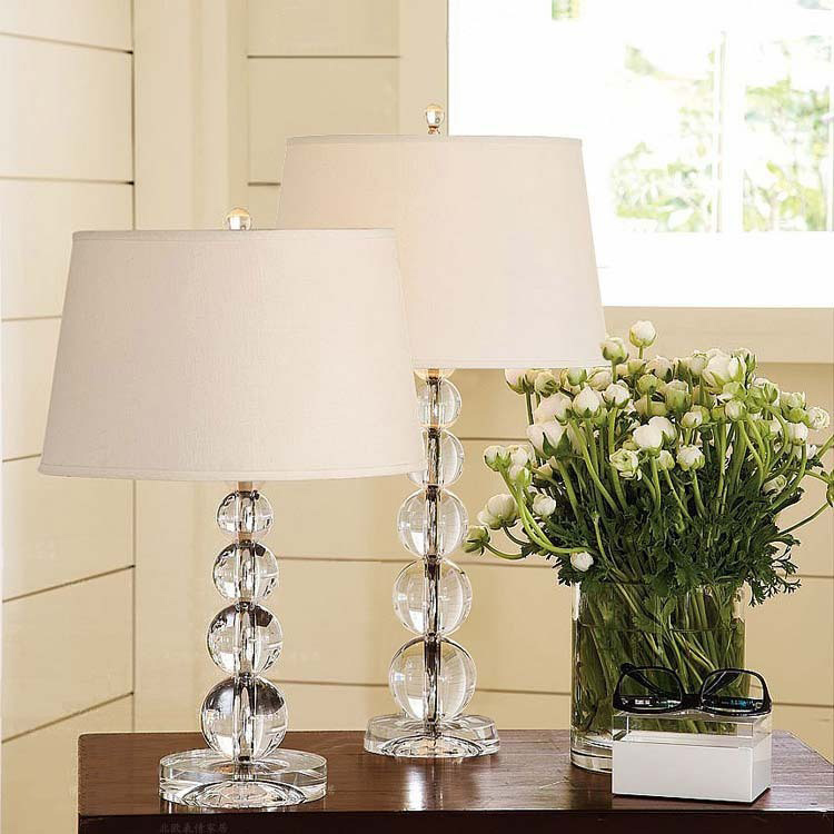 Free shipping modern crystal table lamp luxury table lamp for Modern bedside table lamps