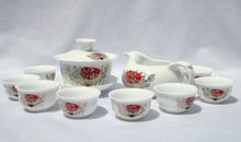 10pcs smart China Tea Set, Pottery Teaset, Chinese Mask ,A3TM06,Free Shipping
