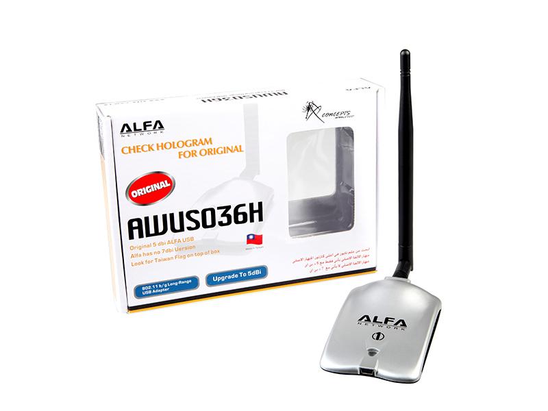 New 2pcs/lot High Power ALFA AWUS036H 1000mw Wifi USB Adapter 5db Antenna Ralink3070 Chipset Free shipping+Dropshipping(China (Mainland))