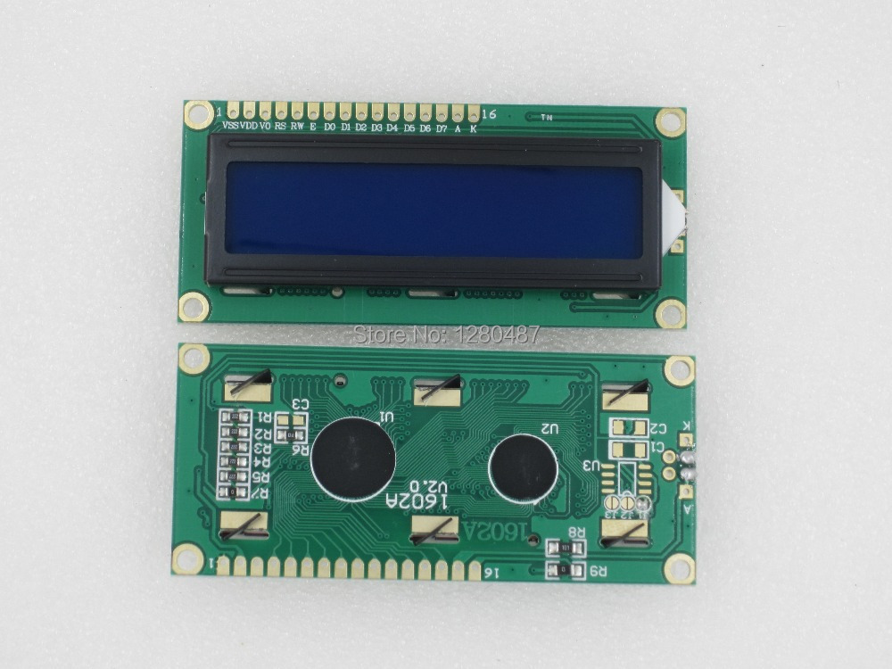 Free shipping ! 1602 LCD screen (blue screen) 51 supporting learning board for arduino with backlighting NEW(China (Mainland))