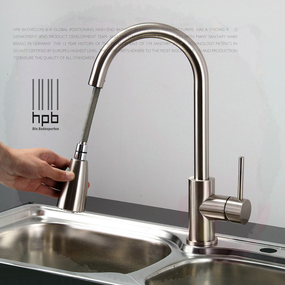 Retractable Kitchen Faucet Steel Handle Picture More Detailed Picture About Brass Sink