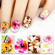 High Quality Beauty Nail Sticker For 50 sheet Water Decals Transfer Nail Art Decorations Flower Stickers adesivo de unha P4PM
